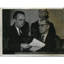 1934 Press Photo Robert Lee Hammel and Emmet Byrne in trial in Chicago