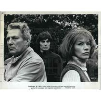 1972 Press Photo Peter Finch, Glenda Jackson, Murray Head- Sunday Bloody Sunday