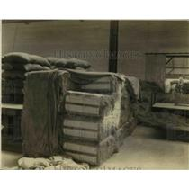 1924 Press Photo Bales of flax at Oregon State Penitentiary for linen industry
