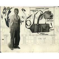 1921 Press Photo Ammonia gas masks for industrial & fire dept use