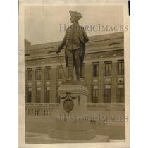 1918 Press Photo Bronze statue of Frederick the Great Kaiser's gift to US