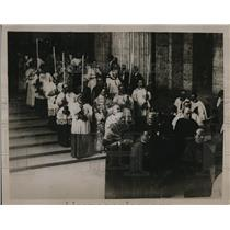 1922 Press Photo Funeral of Pope from Vatican to St Peter's Cathedral