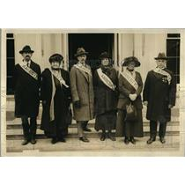 1922 Press Photo Political Amnesty Demonstrators at White house Armistice Day