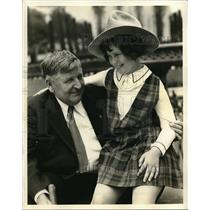 1931 Press Photo Walter Scott & young Mitzi Green in Hollywood