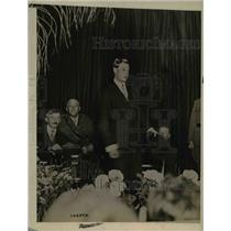 1919 Press Photo Prince Of Wales Addresses Delegation of English Businessmen