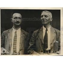 1927 Press Photo Prof N H Swellengrebel and Col S P James