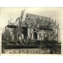 1929 Press Photo Washington Cathedral being remodeled