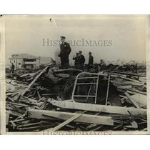 1925 Press Photo Debris from Homes Destroyed in Tornado in Miami