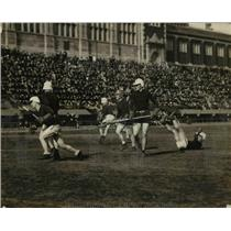 1924 Press Photo MD State Univ vs Annapolis at la crosse in DC