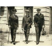 1923 Press Photo Gustav Weidel, Gustaf Printzkold of Sweden