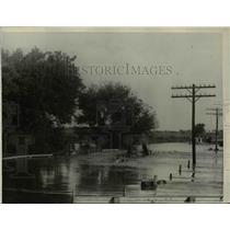 1923 Press Photo Flood in Lincoln Nebraska kills 18