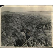 1933 Press Photo Granite (Black) Canyon of the North Platte in Seminoe Range.
