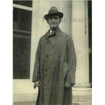 1923 Press Photo F. R. Wadleigh, Federal Coal Distributor, in DC for strike fix