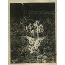 1925 Press Photo Warterfalls on North branch of Doyles Run  in NW woods