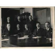 1923 Press Photo League of Nations, Dr E Kelley, Dr Anderson, Van Boeckel