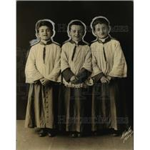 1924 Press Photo 3youngest members of Sistine Chapel Choir