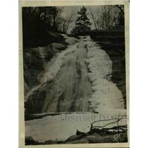 1925 Press Photo A waterfall with ice all along it