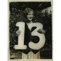 1928 Press Photo Lucile Edmond wins Cecile B DeMille trophy in La Calif