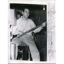 1958 Press Photo Billy Owens Resembles Elvis Presley