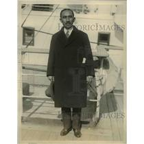 1927 Press Photo S Matsumoto of Japanese Diet arrives in NYC