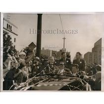 1937 Press Photo Sergei Danilin, Mikhail Gromoff and Andre Yumasheff in LA