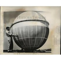 1960 Press Photo Coated fabric balloon called a Ballute
