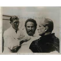 1935 Press Photo Haile Selassie Emperor of Ethiopia, Prmier Mussolini