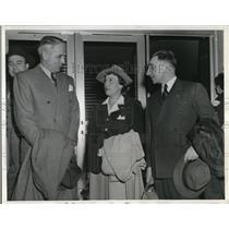 1943 Press Photo S.A.P. Machado, N. Mumper & A. De Los Rios arrive in Washington