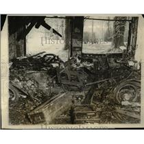 1928 Press Photo Riverdale Md Burned out arson fire at Sen Johnson house
