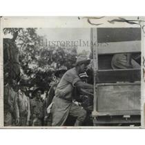 1931 Press Photo Cuban Rebel leader Raoul Menocal captured