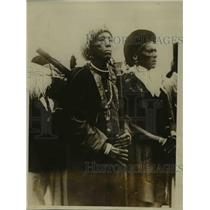 1929 Press Photo Kinanjui main Chief of Kenya Colezy, Kikuyu Tribe