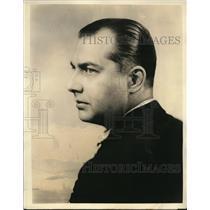 1932 Press Photo Jack Smith Singing Microphone Broadcast Radio