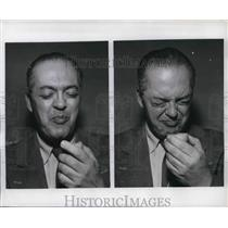 1956 Press Photo Still Hypnotized O'Toole Shows The Brain's Power