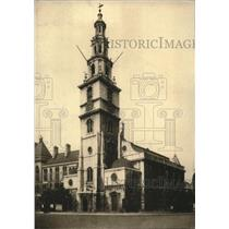 1922 Press Photo Anglican Church of St. Clement Danes in London, England