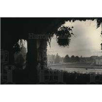 1923 Press Photo View from Ivy-Hung Veranda of The Empress Hotel in Victoria, BC