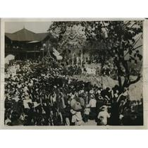 1929 Press Photo Crowd at funeral of Sawbwa of Tawng Pong Akun Seng Awn
