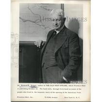 1956 Press Photo Dr. Howard R. Driggs Talks About His New Book On The Old West