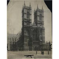 1922 Press Photo WestminsterAbbey in London England