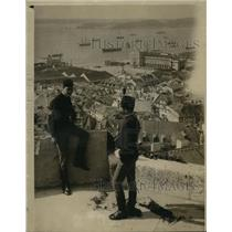 1916 Vintage Press Photo View Teuton Ships Harbor Lisbon, Portugal