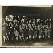 1928 Press Photo Republicans Boston Mass. old fashion torch light parade