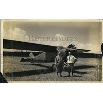 1932 Press Photo Louis Meister & Harry H Durm with their plane