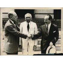 1928 Press Photo Dr Hernan Vela Peruvian Ambassador, Hon Carlos Davlla Chilean