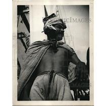 1938 Press Photo Taha Mahoemed Captain of Small Pajala Netherlands