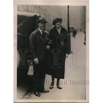 1922 Press Photo Dr. Robert Le Cron , Irene Mathews League of Notions