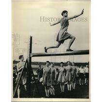 1927 Press Photo Swedish Gymnastics School Performing
