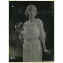 1920 Press Photo Virginia Lee wearing town blouse.
