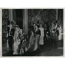 1937 Press Photo King & Queen of Italy, 40 years of marriage Golden Rose,