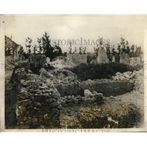 1927 Press Photo Ruins of Bray, Somme, near Albert show intensity of battle