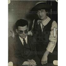 1922 Press Photo Mike Aaronsoher, Ciccinnati, Ohio Blind Chaplain of Blind Vets