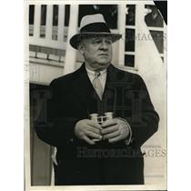 1930 Press Photo New York Giants Manager John McGraw with His Binoculars